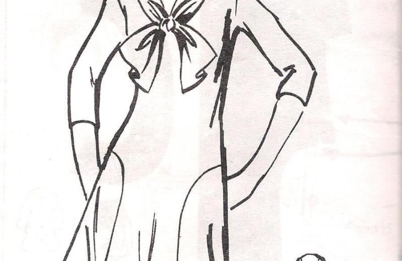 1448 Sewing Pattern Dress Uncut