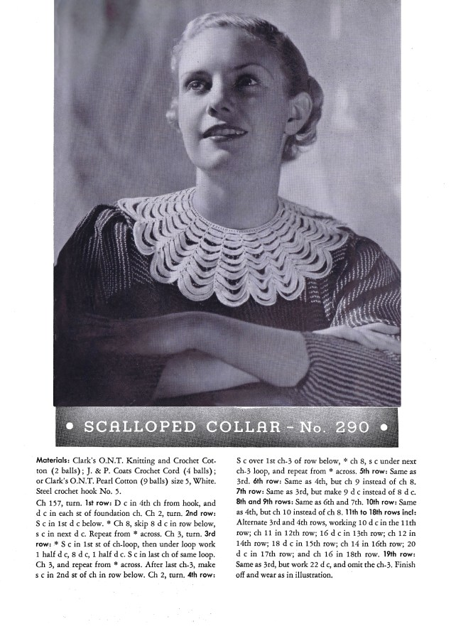 Selected Designs for Crochet Scalloped Collar