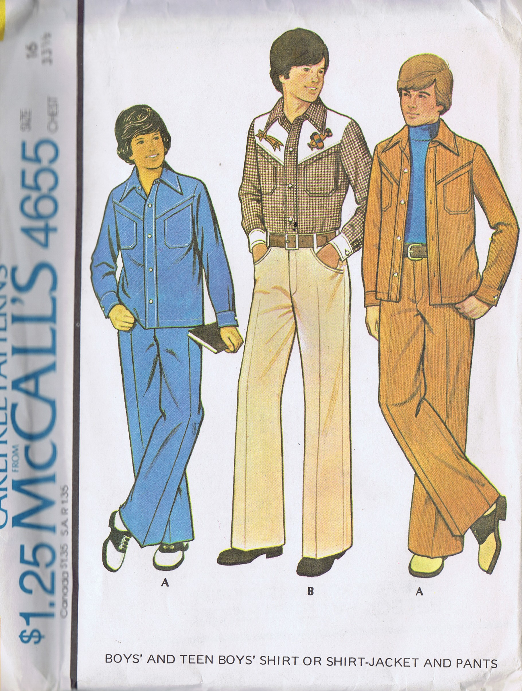 4655 McCalls Vintage Boys Jacket Pants Sewing Pattern