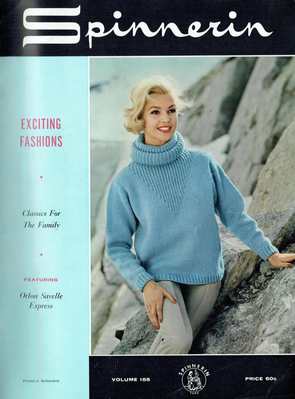 d1473f92d993 Spinnerin 156 Vintage Knitting Patterns Hoodies Sweaters Cardigans ...