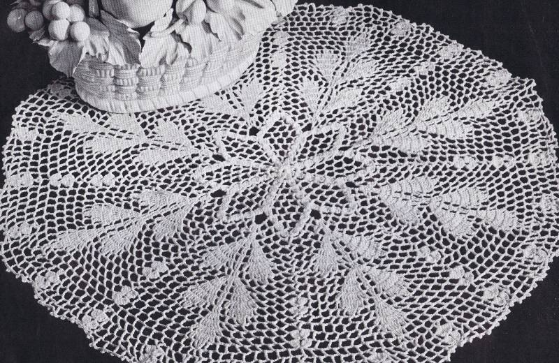 Autumn Wheat Crochet Doily 151-american-thread-autumn-wheat-doily