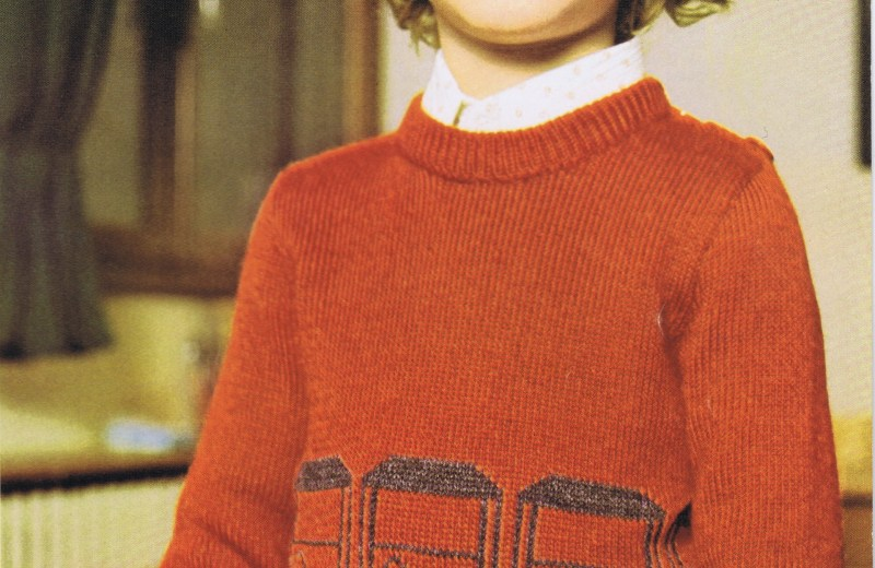Free Knitting Pattern Vintage Boys Car Pullover