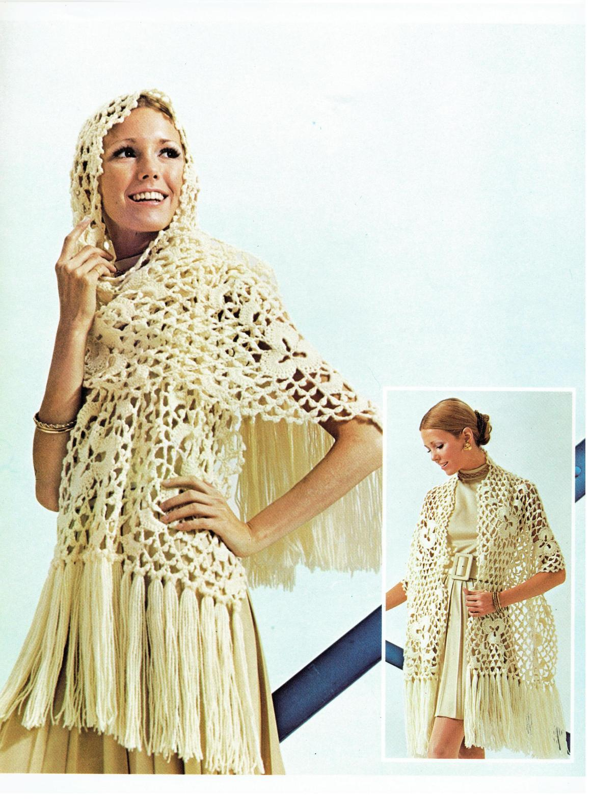 aa8acf4bd34dc Crochet Your Own Vintage Crochet Lace Medallion Stole Pattern ...