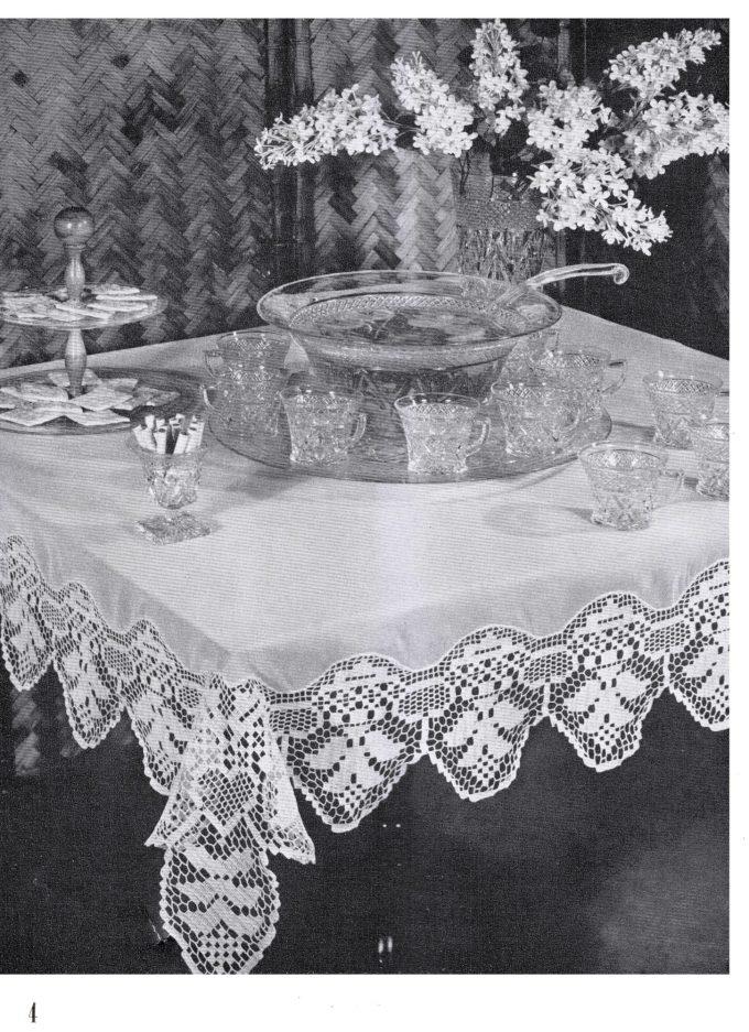 Free Filet Tablecloth Patterns Viewkaka
