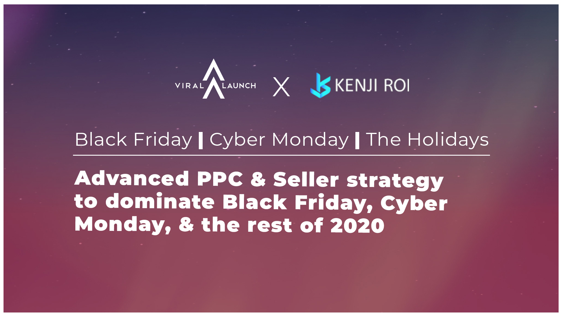 VL Follow The Data x Kenji ROI Podcast for Black Friday and Cyber Monday