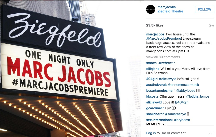 Marc Jacobs on Instagram
