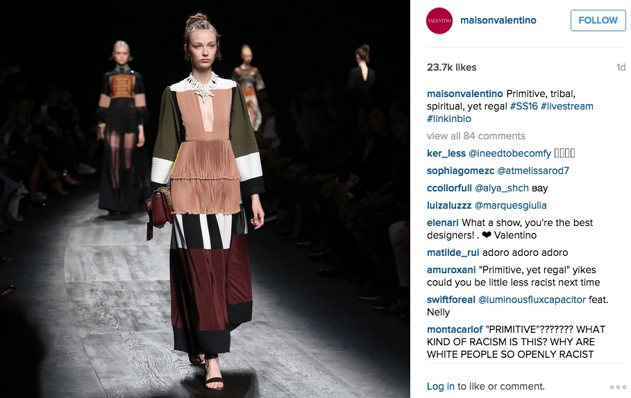 Valentino on Instagram