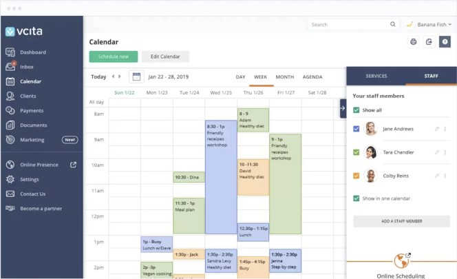 Image of demo scheduling software vCita™