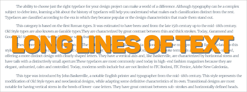 lines of text