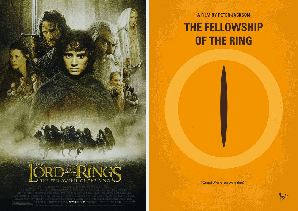 the lord of the rings minimalist movie posters
