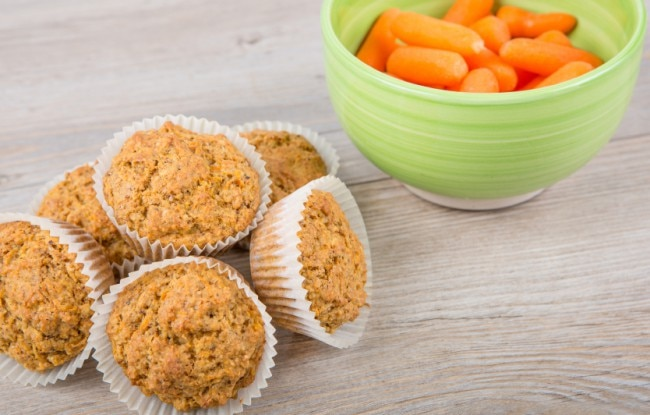 Mini Vegan Carrot-Coconut Muffins