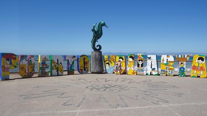 Lugares turísticos en el Malecón de Puerto Vallarta