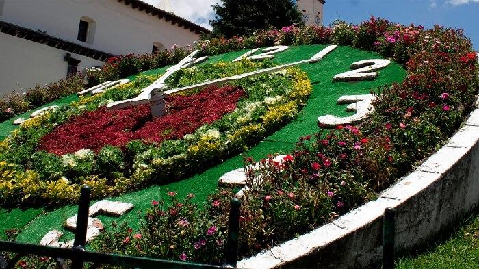 Reloj Floral en Zacatlán de las manzanas