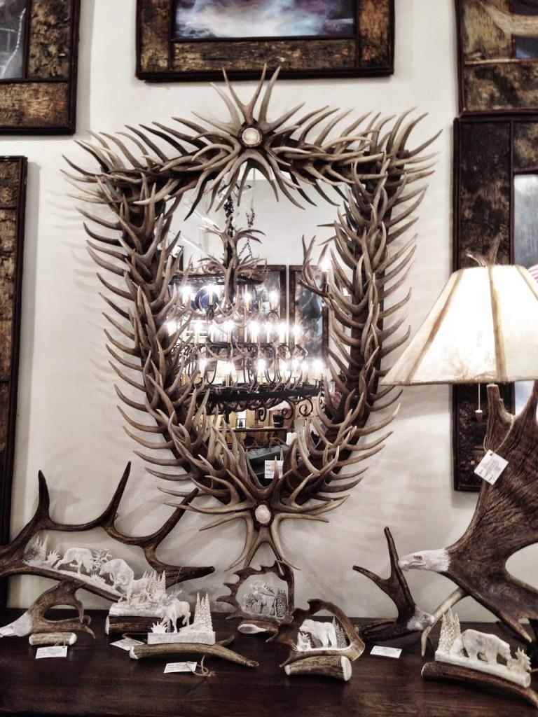 Antlers as a mirrorframe - via Greige Design