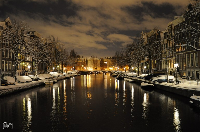 Christmas in Amsterdam by night