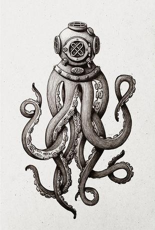 A Octopus Diver via Dot and Bo