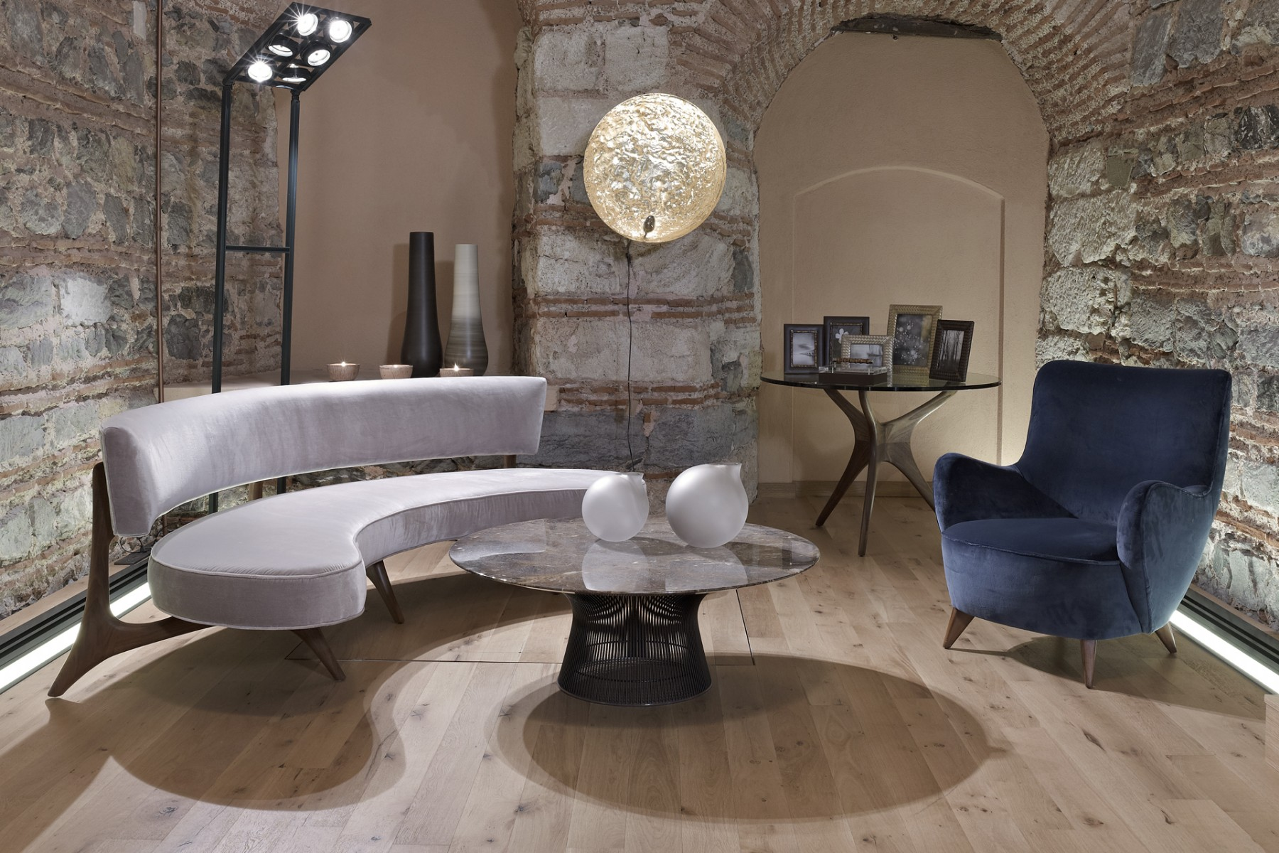 A Collection Of Kagan Furniture, Paired With A Warren Platner Coffee Table