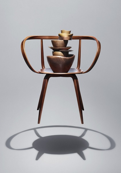 And finally, a George Nelson's Pretzel Chair, styled by German Wolfram Neugebauer