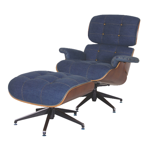 How original, the Eames Chaise in denim - via Halls Interiors