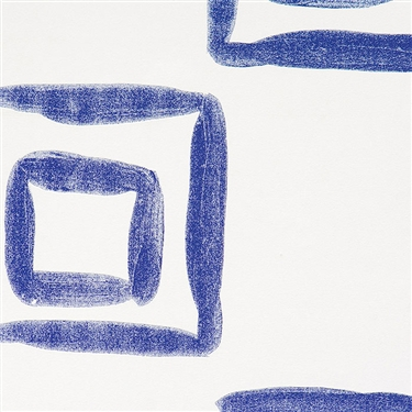 Blue Nested Squares by WallsRepublic