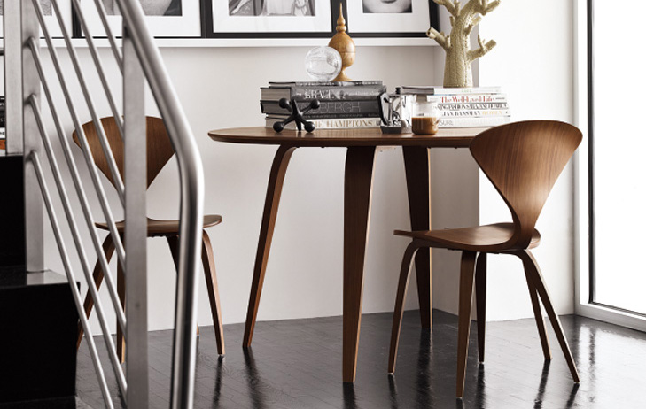 cherner chairs paired with a cherner table
