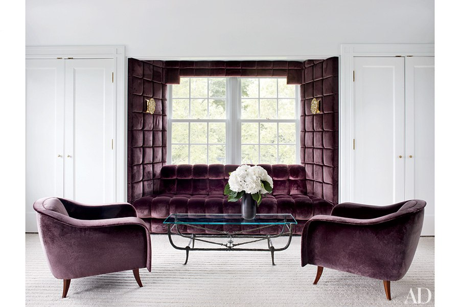 Aubergine Sahco Velvet Is Used For This Luxuriously Padded Windowseat And  Joaquim Tenreiro Chairs In Greenwhich, Connecticut Home Decorated By Joe  Nahem ...