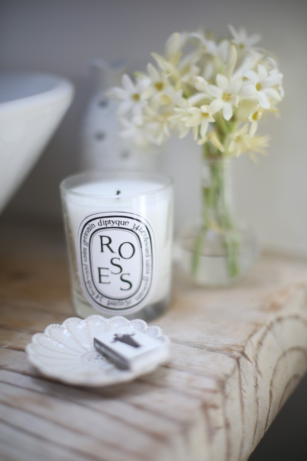 The well-known aromatic candles by Diptyque