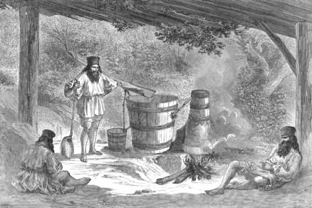Distillation de Slivovitz en Valachie