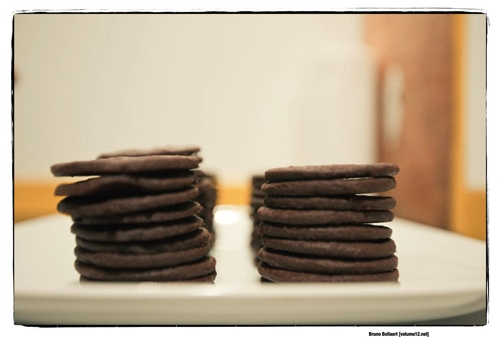 Chocolate Espresso Sandwich Cookies based on a recipe by Joy The Baker