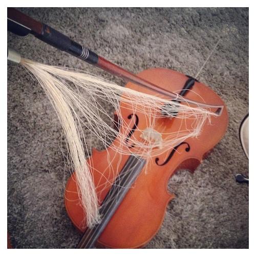 Cello : de strijkstok door Bruno Bollaert