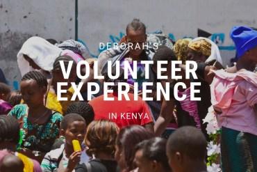 Deborahs experience in Kenya
