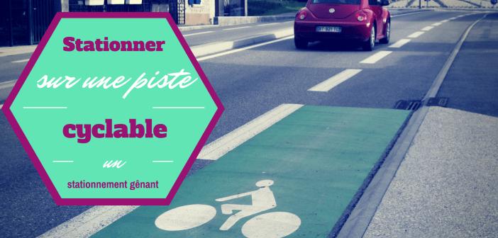 Se garer sur une bande cyclable : un stationnement très gênant
