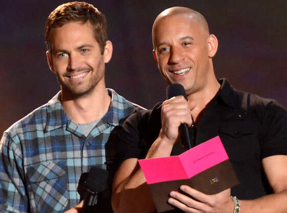Vin Diesel (right) with the late Paul Walker. Photo: E Online