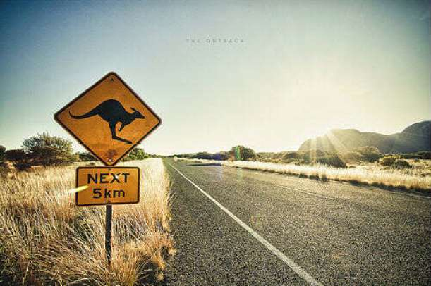 Aus Road Sign