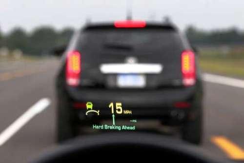 GM vehicle-to-vehicle communications technology