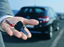 Handing Over the Keys of a Rental Car