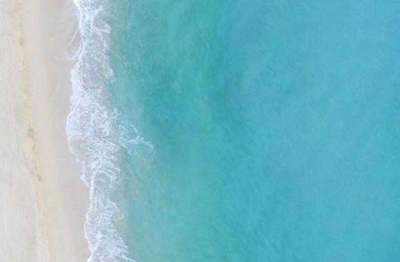 Flying over the beautiful beaches of Kauai