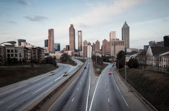 Highway leading into Atlanta, Georgia