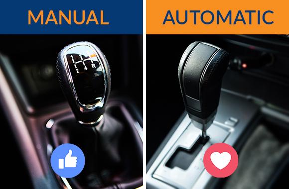 from Conner manual vs auto tranny