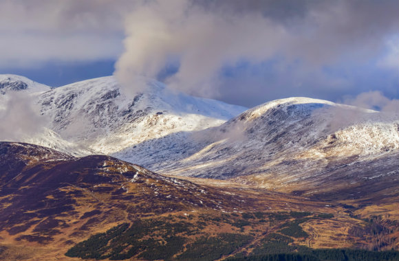 View of mountains in Glenshee, Scotland