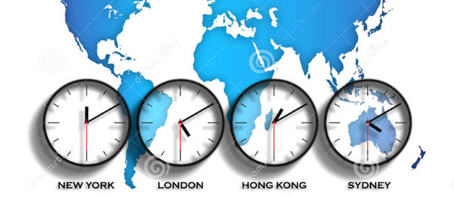 Set different Time Zones for a meeting