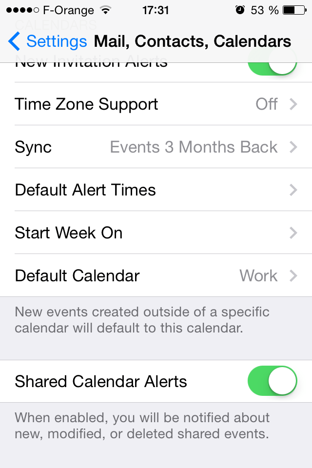 Google calendar : default calendar on iPhone - Vyte