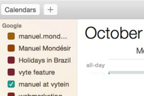Google calendar : default calendar on mac