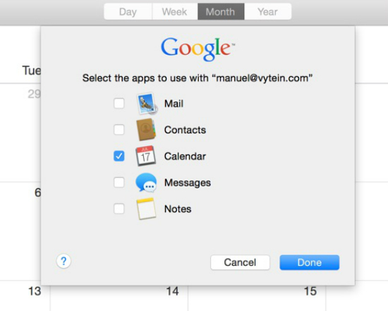 Default-calendar-on-mac-Google-calendar-select