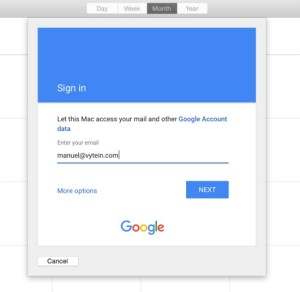 Default-calendar-on-mac-sign-in-with-Google