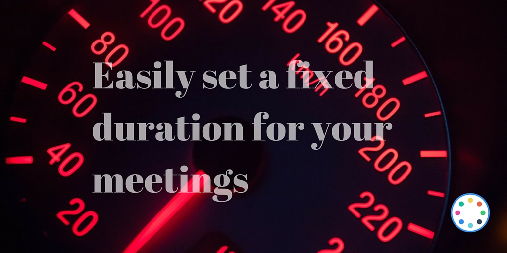 Set a fixed duration for your meetings requests on your vyte page