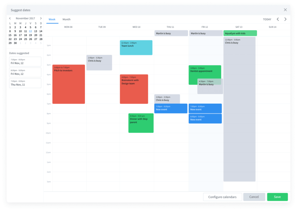 Vyte Suggesting date Scheduling