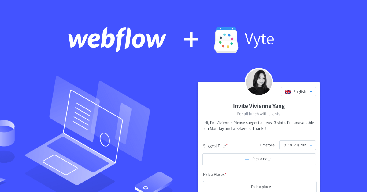 How to add a Booking Form into your Webflow Site - Vyte