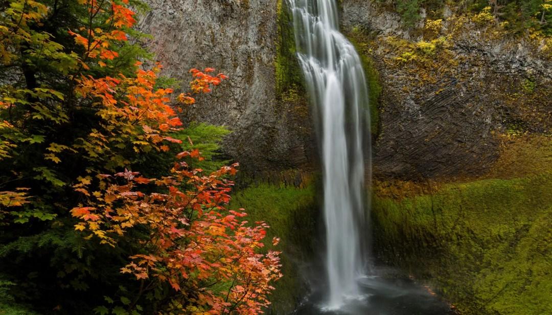 Salt Creek Falls in autumn