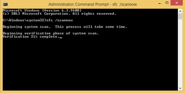 كيفية فحص ملفات نظام الويندوز واكتشاف الأخطاء